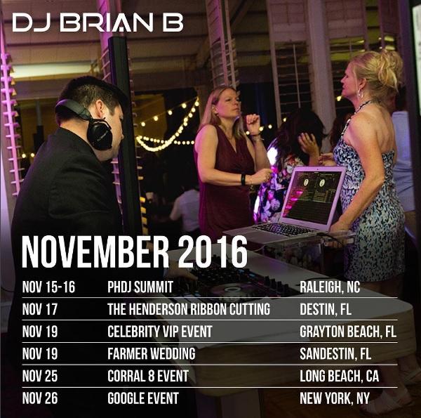 Brian B November 2016 Schedule